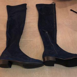 Zara knee high suede boots